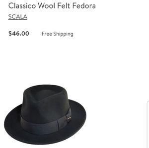 Scala wool fedora